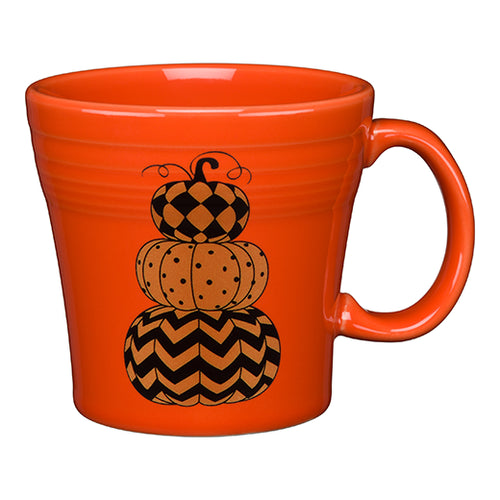 Geo Pumpkins Tapered Mug, fiesta® halloween - Fiesta Factory Direct by Homer Laughlin China.  Dinnerware proudly made in the USA.