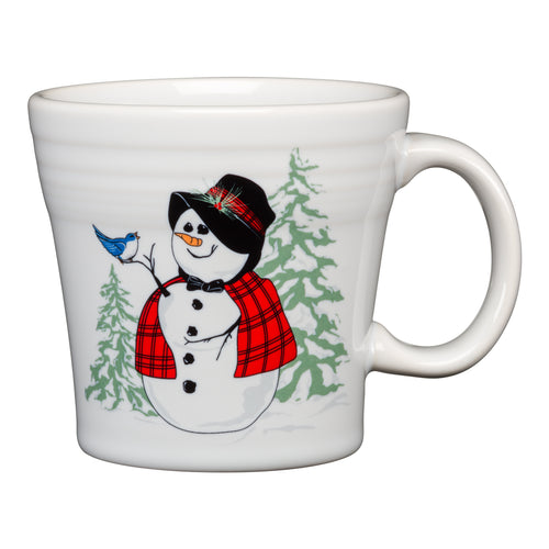 Tapered Mug Snowlady, fiesta® Snowman - Fiesta Factory Direct by Homer Laughlin China.  Dinnerware proudly made in the USA.