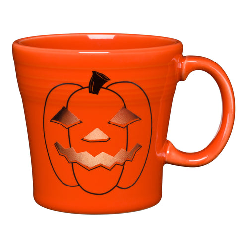 Spooky Glowing Pumpkin Tapered Mug, fiesta® halloween - Fiesta Factory Direct by Homer Laughlin China.  Dinnerware proudly made in the USA.