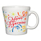 Happy Birthday Tapered Mug, fiesta® Celebrate - Fiesta Factory Direct by Homer Laughlin China.  Dinnerware proudly made in the USA.