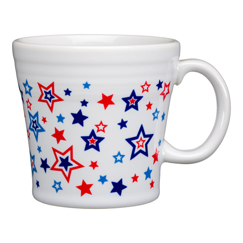 Americana Stars Tapered Mug, fiesta® Americana Stars - Fiesta Factory Direct by Homer Laughlin China.  Dinnerware proudly made in the USA.