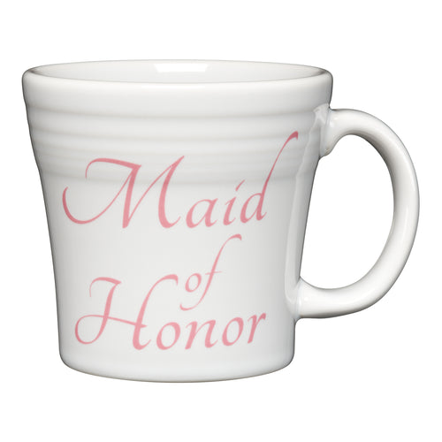 Tapered Mug Maid of Honor, fiesta® Bridal - Fiesta Factory Direct by Homer Laughlin China.  Dinnerware proudly made in the USA.