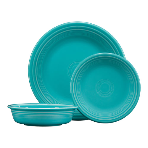 3pc Classic Place Setting  sc 1 th 225 : fiesta square dinnerware sets - pezcame.com