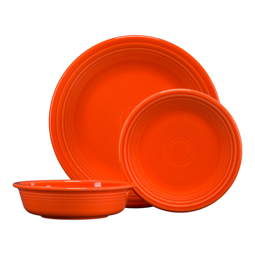 3pc Classic Place Setting, place settings - Fiesta Factory Direct by Homer Laughlin China.  Dinnerware proudly made in the USA.