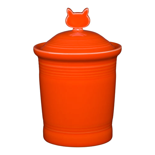 Cat Treat Jar, fiesta® Pet Ware - Fiesta Factory Direct by Homer Laughlin China.  Dinnerware proudly made in the USA.