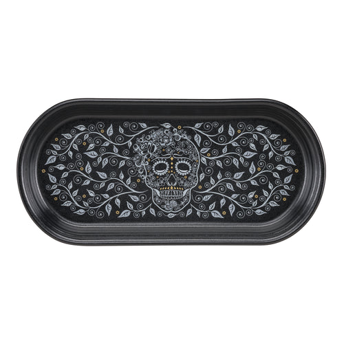Small Bread Tray SKULL AND VINE - Fiesta Factory Direct
