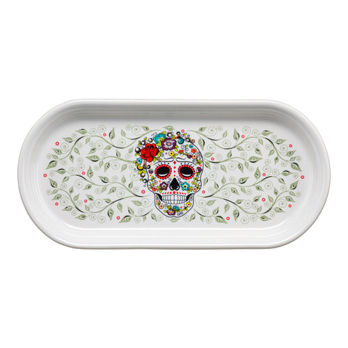Small Bread Tray SKULL AND VINE Sugar - Fiesta Factory Direct
