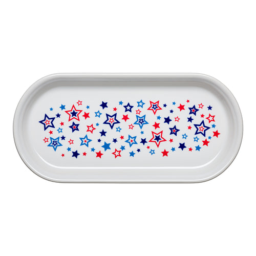 Small Bread Tray Americana Stars, fiesta® Americana Stars - Fiesta Factory Direct by Homer Laughlin China.  Dinnerware proudly made in the USA.