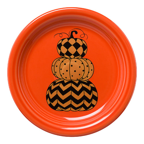 Geo Pumpkins Appetizer Plate, fiesta® halloween - Fiesta Factory Direct by Homer Laughlin China.  Dinnerware proudly made in the USA.