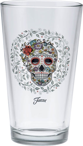 16 oz. Fiesta® SKULL AND VINE Sugar Clear Cooler Set of 4