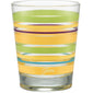 15 oz. Fiesta® Caribbean Sunset Stripes Tapered Double Old Fashion – Set of 4, Glassware - Fiesta Factory Direct by Homer Laughlin China.  Dinnerware proudly made in the USA.