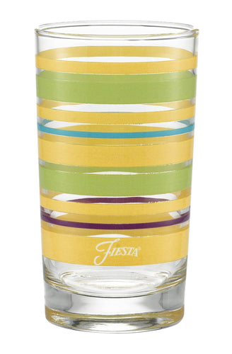 7 oz. Fiesta® Caribbean Sunset Stripes Juice Glass – Set of 4, Glassware - Fiesta Factory Direct by Homer Laughlin China.  Dinnerware proudly made in the USA.