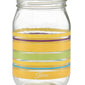 14 oz. Fiesta® Caribbean Sunset Stripes Jar – Set of 4, Glassware - Fiesta Factory Direct by Homer Laughlin China.  Dinnerware proudly made in the USA.