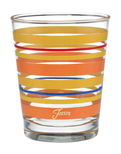 15 oz. Fiesta® Sienna Sunset Stripes Tapered Double Old Fashion – Set of 4