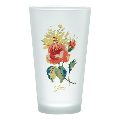 16 oz. Fiesta® Floral Bouquet Frosted Cooler Set of 4, Glassware - Fiesta Factory Direct by Homer Laughlin China.  Dinnerware proudly made in the USA.