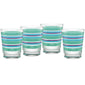 15 oz. Fiesta® Farmhouse Chic Stripes Tapered Double Old Fashion – Set of 4, Glassware - Fiesta Factory Direct by Homer Laughlin China.  Dinnerware proudly made in the USA.