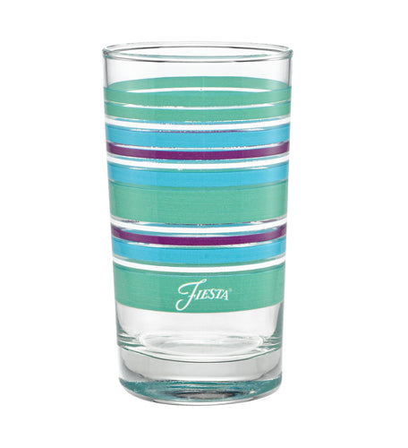7 oz. Fiesta® Farmhouse Chic Stripes Juice Glass – Set of 4, Glassware - Fiesta Factory Direct by Homer Laughlin China.  Dinnerware proudly made in the USA.