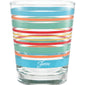 15 oz. Fiesta® Rainbow Radiance Stripes Tapered Double Old Fashion – Set of 4, Glassware - Fiesta Factory Direct by Homer Laughlin China.  Dinnerware proudly made in the USA.