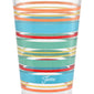 16 oz. Fiesta® Rainbow Radiance Stripes Cooler – Set of 4, Glassware - Fiesta Factory Direct by Homer Laughlin China.  Dinnerware proudly made in the USA.
