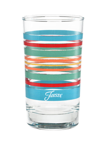 7 oz. Fiesta® Rainbow Radiance Stripes Juice Glass – Set of 4, Glassware - Fiesta Factory Direct by Homer Laughlin China.  Dinnerware proudly made in the USA.