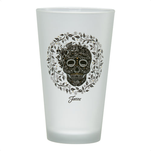 16 oz. Fiesta® SKULL AND VINE Frosted Cooler – Set of 4