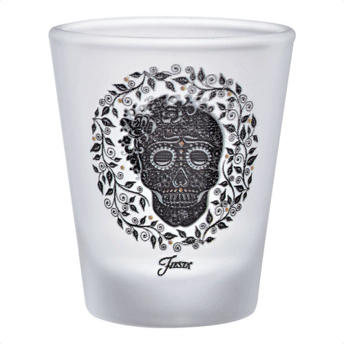 1.75 oz. Fiesta® SKULL AND VINE Frosted Shot – Set of 4
