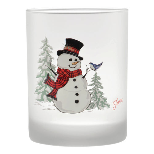 14 oz. Fiesta® Snowman Double Old Fashion – Set of 4, Glassware - Fiesta Factory Direct by Homer Laughlin China.  Dinnerware proudly made in the USA.