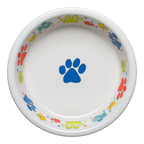 Scatter Print Dog Paws Bowl Extra Large, fiesta® Pet Ware - Fiesta Factory Direct by Homer Laughlin China.  Dinnerware proudly made in the USA.