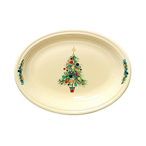 Christmas Tree Oval Vegetable Bowl