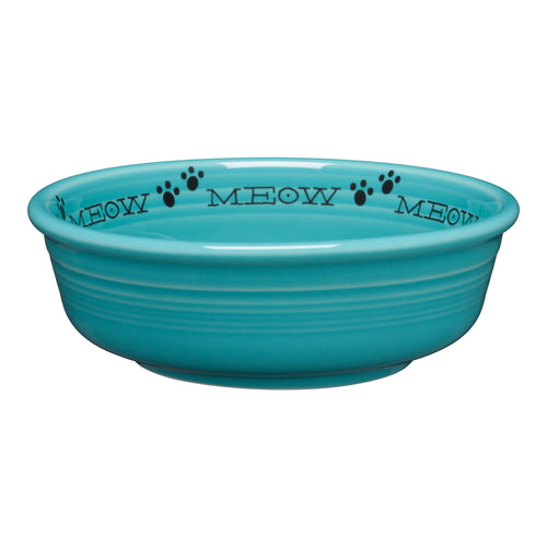 Meow Cat Small Bowl, fiesta® Pet Ware - Fiesta Factory Direct by Homer Laughlin China.  Dinnerware proudly made in the USA.