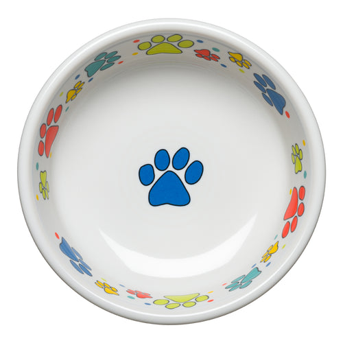Scatter Print Dog Paws Bowl Small, fiesta® Pet Ware - Fiesta Factory Direct by Homer Laughlin China.  Dinnerware proudly made in the USA.