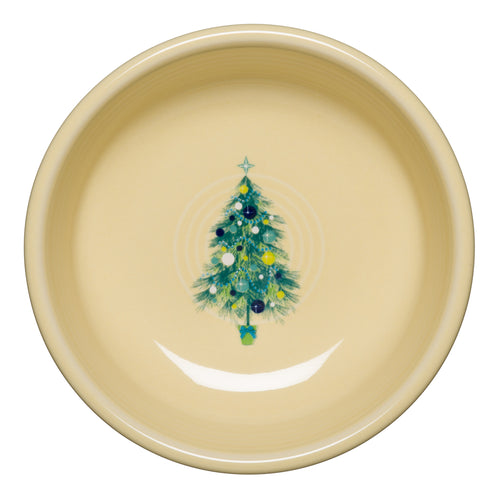 Small Blue Christmas Tree Bowl, fiesta® Blue Christmas tree - Fiesta Factory Direct by Homer Laughlin China.  Dinnerware proudly made in the USA.