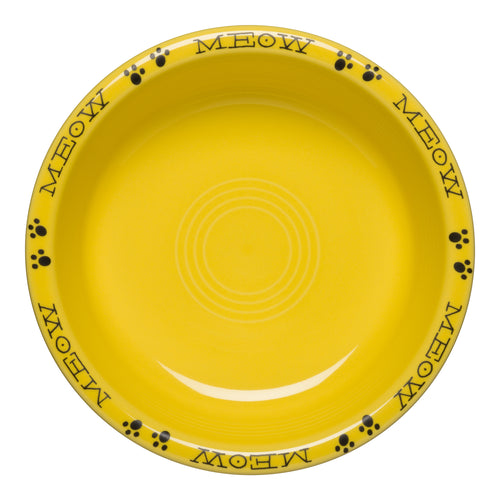 Meow Cat Medium Bowl, fiesta® Pet Ware - Fiesta Factory Direct by Homer Laughlin China.  Dinnerware proudly made in the USA.