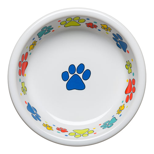 Scatter Print Dog Paws Bowl Medium, fiesta® Pet Ware - Fiesta Factory Direct by Homer Laughlin China.  Dinnerware proudly made in the USA.