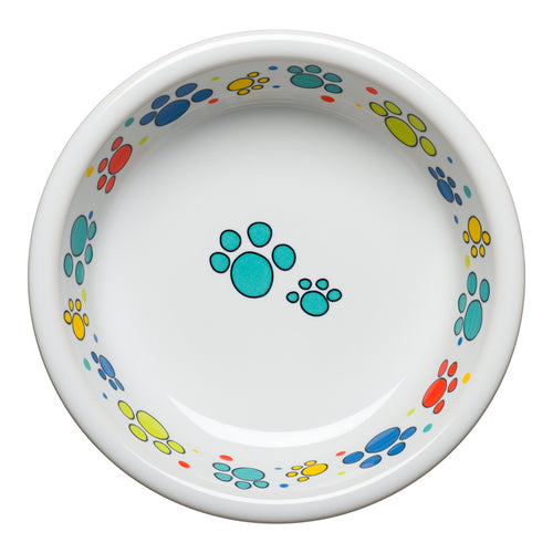Scatter Print Cat Paws Bowl Medium, fiesta® Pet Ware - Fiesta Factory Direct by Homer Laughlin China.  Dinnerware proudly made in the USA.