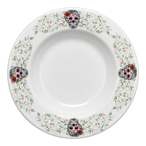 Pasta Bowl SKULL AND VINE Sugar - Fiesta Factory Direct