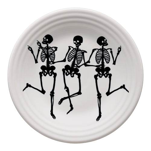 Trio of Skeletons Luncheon Plate, fiesta® halloween - Fiesta Factory Direct by Homer Laughlin China.  Dinnerware proudly made in the USA.