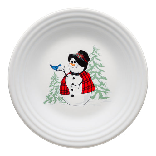 Snowlady Luncheon Plate, fiesta® Snowman - Fiesta Factory Direct by Homer Laughlin China.  Dinnerware proudly made in the USA.