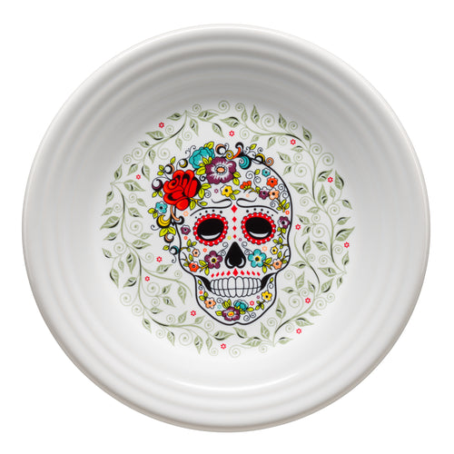 Luncheon Plate SKULL AND VINE Sugar, fiesta® SKULL AND VINE - Fiesta Factory Direct by Homer Laughlin China.  Dinnerware proudly made in the USA.