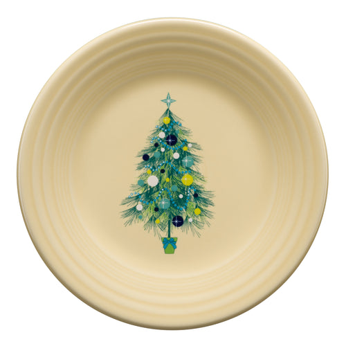 Blue Christmas Tree Luncheon Plate