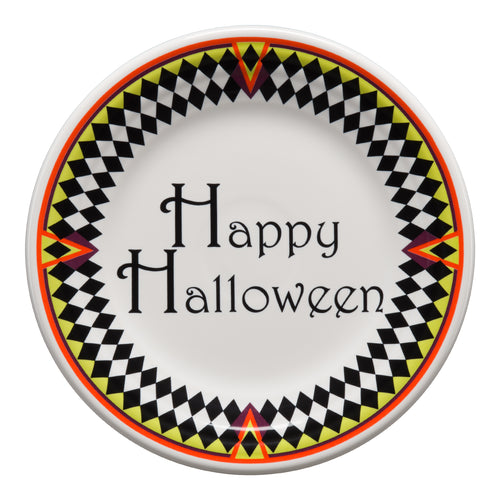 Harlequin Happy Halloween Luncheon Plate, fiesta® Harlequin Happy Halloween - Fiesta Factory Direct by Homer Laughlin China.  Dinnerware proudly made in the USA.
