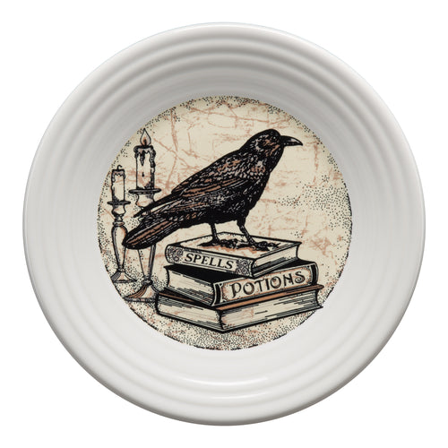 Mystical Halloween Raven Luncheon Plate