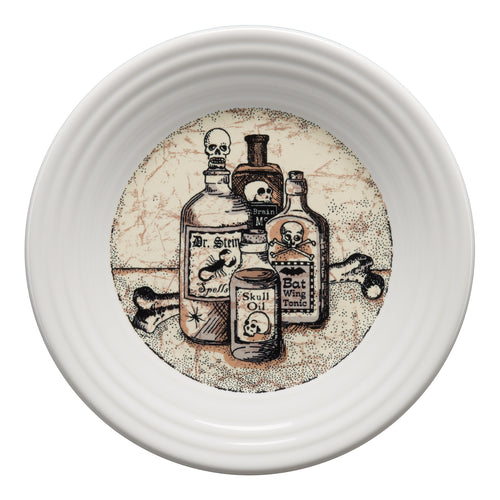Mystical Halloween Apothecary Luncheon Plate, fiesta® Mystical Halloween - Fiesta Factory Direct by Homer Laughlin China.  Dinnerware proudly made in the USA.