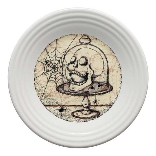 Mystical Halloween Skull Luncheon Plate, fiesta® Mystical Halloween - Fiesta Factory Direct by Homer Laughlin China.  Dinnerware proudly made in the USA.