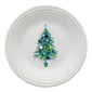 Blue Christmas Tree on White Luncheon Plate, fiesta® Blue Christmas tree - Fiesta Factory Direct by Homer Laughlin China.  Dinnerware proudly made in the USA.