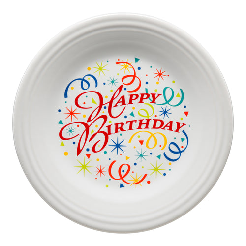 Dinner Plate Happy Birthday, fiesta® Celebrate - Fiesta Factory Direct by Homer Laughlin China.  Dinnerware proudly made in the USA.