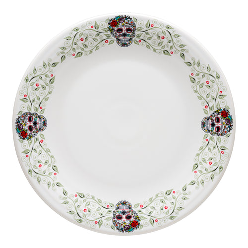 Chop Plate SKULL AND VINE Sugar Border, fiesta® SKULL AND VINE - Fiesta Factory Direct by Homer Laughlin China.  Dinnerware proudly made in the USA.