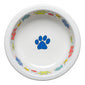Scatter Print Dog Paws Bowl Large, fiesta® Pet Ware - Fiesta Factory Direct by Homer Laughlin China.  Dinnerware proudly made in the USA.