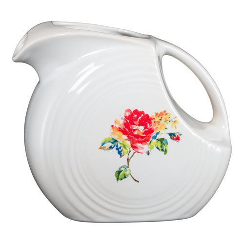 Large Disk Pitcher Floral Bouquet, fiesta® Floral Bouquet - Fiesta Factory Direct by Homer Laughlin China.  Dinnerware proudly made in the USA.