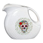 Large Disk Pitcher SKULL AND VINE Sugar, fiesta® SKULL AND VINE - Fiesta Factory Direct by Homer Laughlin China.  Dinnerware proudly made in the USA.